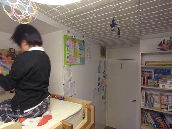 天井のメッシュ仕上2