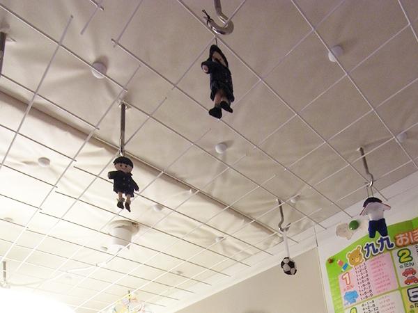 天井のメッシュ仕上